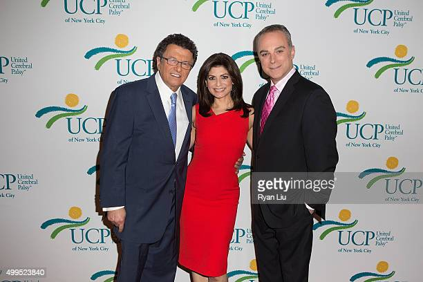 Irv Gikofsky Tamsen Fadal and Scott Stanford attend the 6th Annual UCP Of NYC Santa Project Party and auction benefiting United Cerebral Palsy of New...