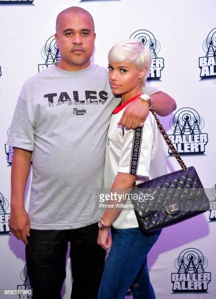 Irv Gotti and Ashley Martelle attend Baller Alert's Bowl With a Baller at Basement Bowl on October 5 2017 in Miami Florida