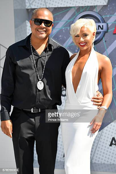 Irv Gotti and Ashley Martelle attend the 2016 BET awards at Microsoft Theater on June 26 2016 in Los Angeles California