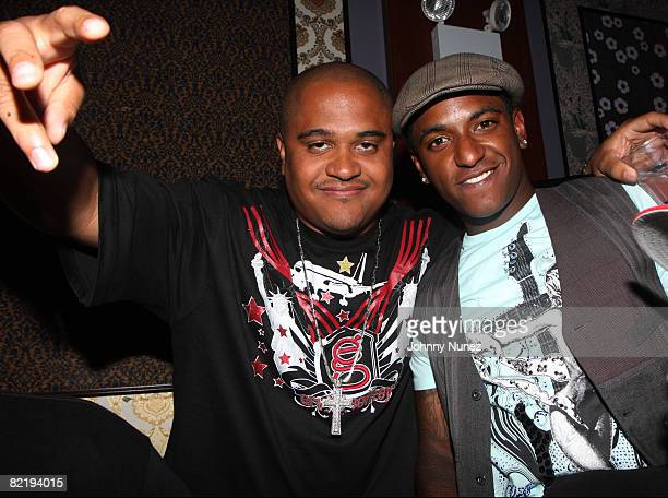"""Irv Gotti and Llyod attend Lloyd's """"Lessons of Love"""" album release party at Prime on August 5, 2008 in New York City."""