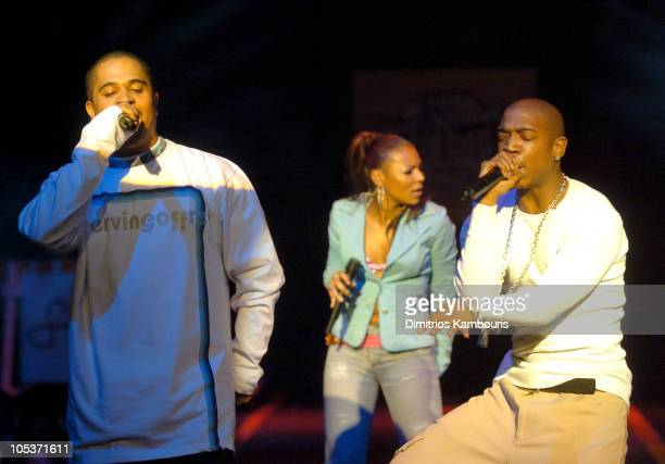 Irv Gotti Ashanti and Ja Rule during Fuse and Hot 97 Present Full Frontal Hip Hop With Host Lil Kim at Webster Hall in New York City New York United...