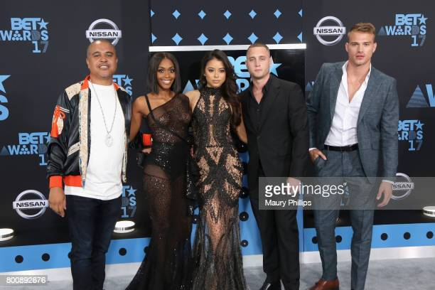 Irv Gotti Nafessa Williams Michelle Hayden Chet Hanks and Matthew Noszka at the 2017 BET Awards at Microsoft Square on June 25 2017 in Los Angeles...