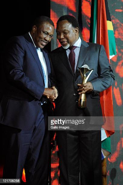 Irvin Khoza and Kgalema Motlanthe during the SA Sports Awards from Sun City Superbowl on August 21 2011 in Rustenburg South Africa