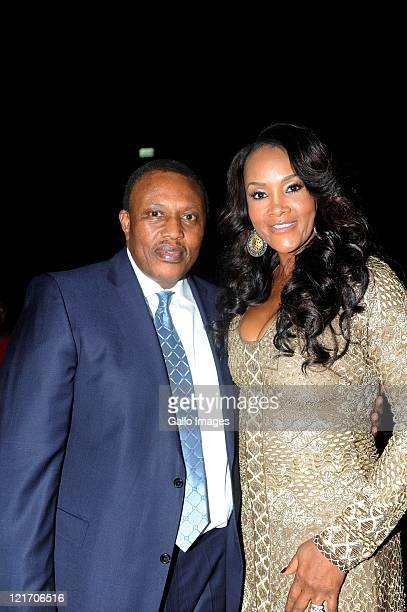 Irvin Khoza and Vivica A Fox during the SA Sports Awards from Sun City Superbowl on August 21 2011 in Rustenburg South Africa