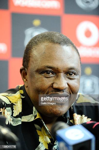 Irvin Khoza Chairman of the Orlando Pirates during the Orlando Pirates press conference at the Fli Afrika Office in Houghton on January 31 2012 in...