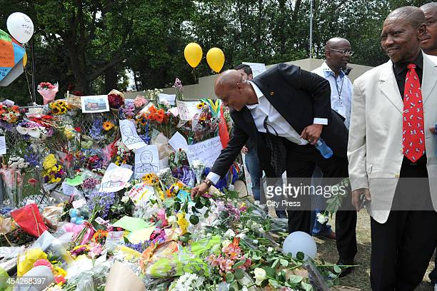 Irvin Khoza comes to pay his respects to former President Nelson Mandela on December 7 2013 in Houghton Johannesburg South Africa Mourners have been...