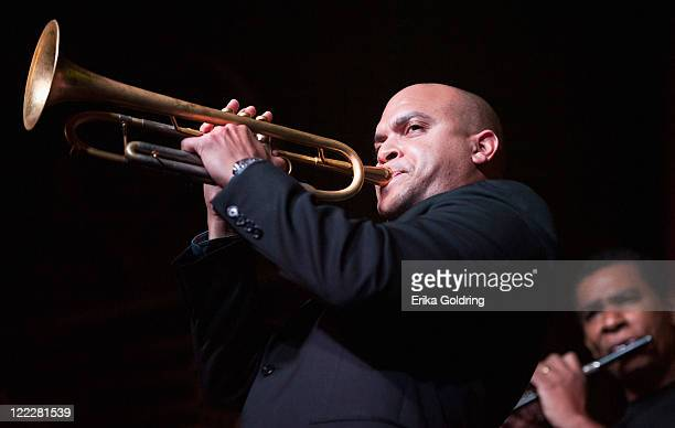 Irvin Mayfield and Kent Jordan perform at Irvin Mayfield's I Club on August 26 2011 in New Orleans Louisiana