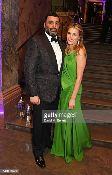 Irvine Iqbal and Michella Friedman attend the press night after party for Disney's 'Aladdin' at The National Gallery on June 15 2016 in London England
