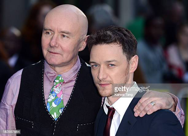 Irvine Welch and James McAvoy attend the London Premiere of 'Filth' at the Odeon West End on September 30 2013 in London England