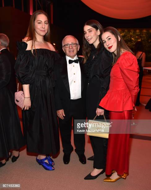 Irving Azoff and Haim attend the 2018 Vanity Fair Oscar Party hosted by Radhika Jones at Wallis Annenberg Center for the Performing Arts on March 4...
