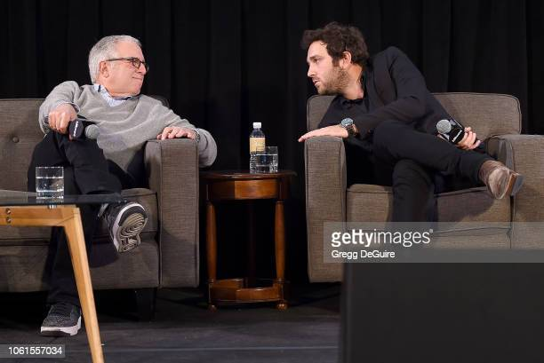 Irving Azoff and son Jeffrey Azoff of Full Stop Management attend Billboard's 2018 Live Music Summit Panels Day 2 at Montage Beverly Hills on...
