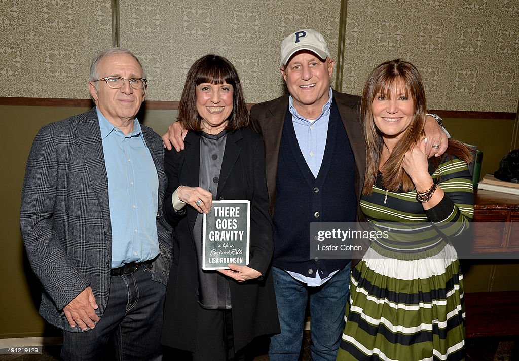 Irving Azoff, Lisa Robinson, Ron Perelman, and Shelli Azoff attend the Shelli And Irving Azoff & Ronald Perelman Party to celebrate the publication of Lisa Robinson's book 'There Goes Gravity: A Life in Rock And Roll' on May 28, 2014 in Los Angeles, California.