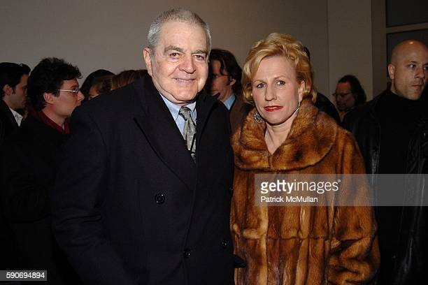 Irving Blum Jackie Blum attend The Opening of Damien Hirst The Elusive Truth at Gagosian Gallery on March 11 2005 in New York City