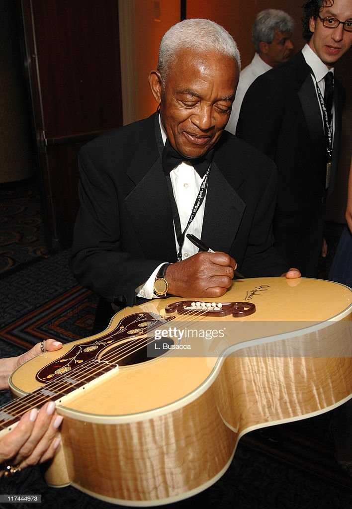 Irving Burgie during 38th Annual Songwriters Hall of Fame Ceremony - Cocktails and Backstage at Marriott Marquis in New York City, New York, United States.