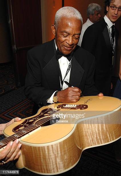 Irving Burgie during 38th Annual Songwriters Hall of Fame Ceremony Cocktails and Backstage at Marriott Marquis in New York City New York United States