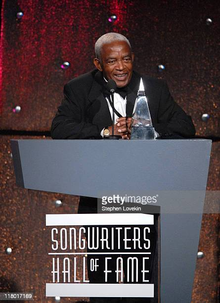 Irving Burgie during 38th Annual Songwriters Hall of Fame Ceremony Show at Marriott Marquis in New York City New York United States