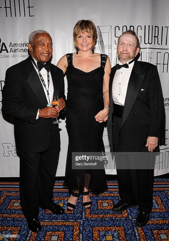Irving Burgie, Karin Allyson, and Johnny Mandel attend the 41st Annual Songwriters Hall of Fame Ceremony at The New York Marriott Marquis on June 17, 2010 in New York City.