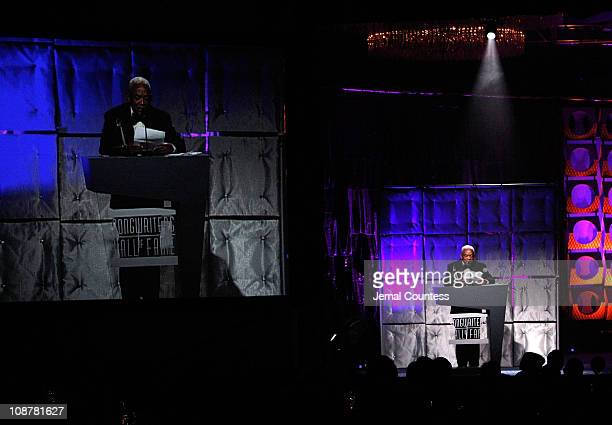 Irving Burgie speaks onstage during the 39th Annual Songwriters Hall of Fame Ceremony at the Marriott Marquis on June 19 2008 in New York City