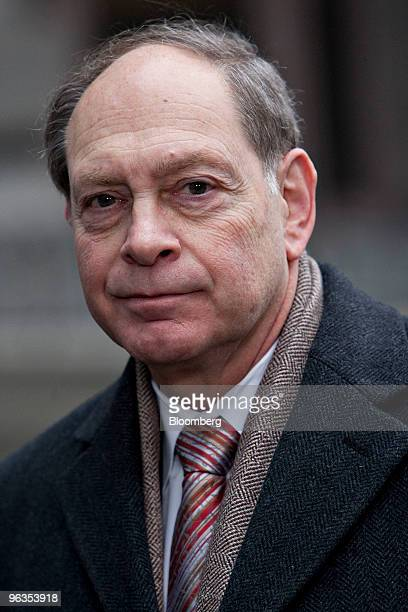 Irving Picard partner at Baker Hostetler LLP pauses during an interview outside US Bankruptcy Court in New York US on Tuesday Feb 2 2010 The judge...