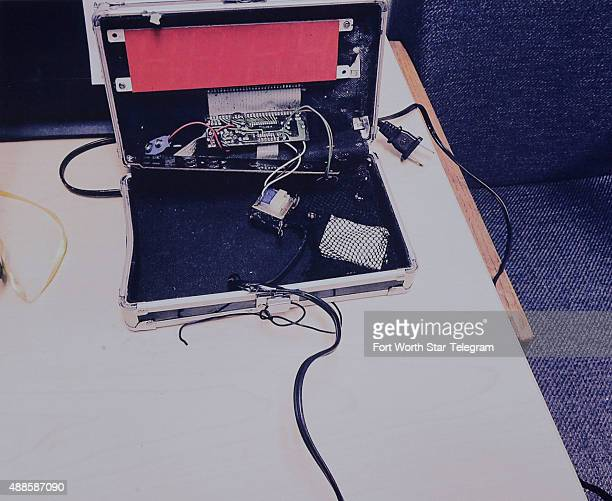 Irving Police released a photo of the confiscated device at a press conference about the arrest of an Irving ninth grader who brought a homemade...