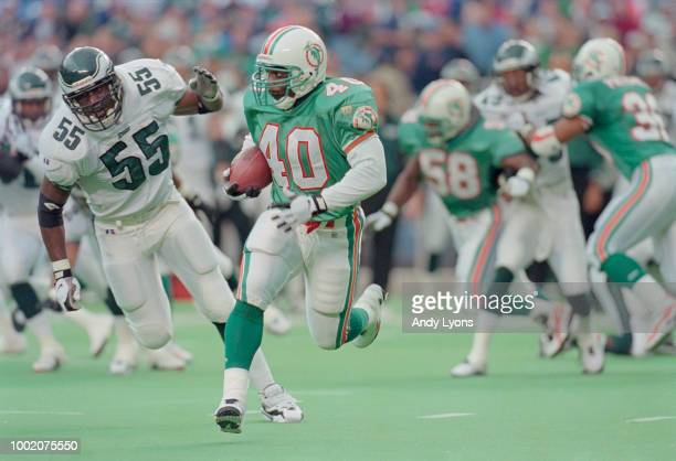 Irving Spikes Punt Return and Running Back for the Miami Dolphins during the National Football Conference East game against the Philadelphia Eagles...