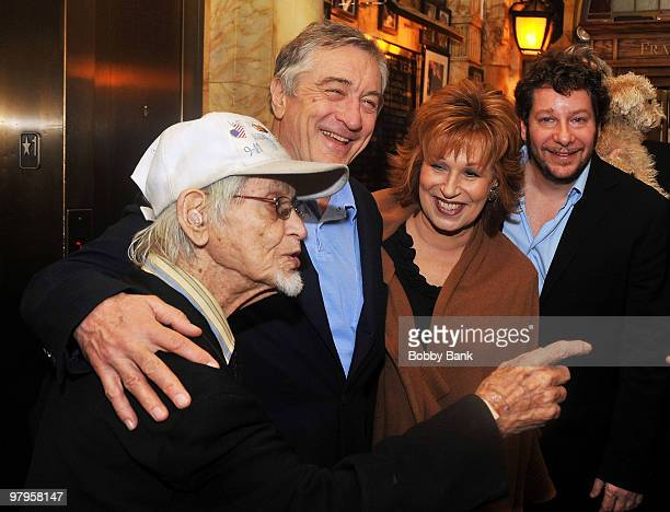 Irwin Corey Robert De Niro Joy Behar and Jeffrey Ross attend the Tribute to Mickey Freeman at the New York Friars Club on March 22 2010 in New York...