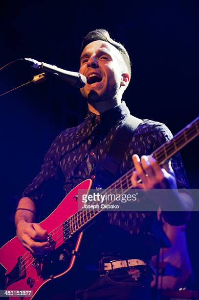 Irwin Sparkes of The Hoosiers performs on stage at O2 Islington Academy on December 2 2013 in London United Kingdom