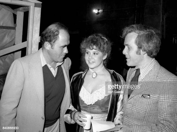 Irwin Yablans Linda Blair and Bruce Cohn Curtis sighted on location filming Hell Night on January 13 1981 at Raliegh Studios in Hollywood California