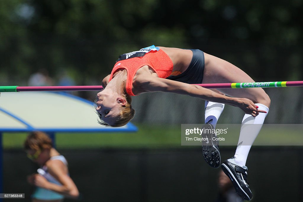 Iryna Kovalenko, Ukraine, in action during the Women's High Jump  Competition at the Diamond