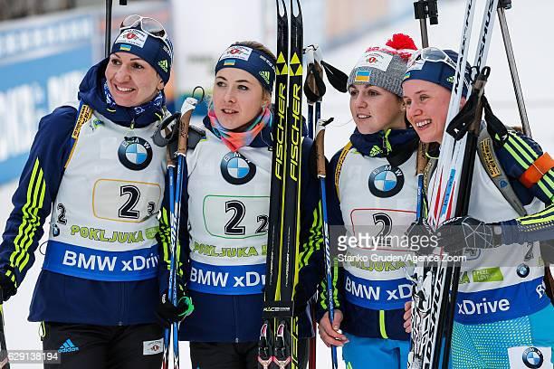 Iryna Varvynets takes 3rd place Juliya Dzhyma of Ukraine takes 3rd place Olena Pidhrushna of Ukraine takes 3rd place Anastasiya Merkushyna takes 3rd...