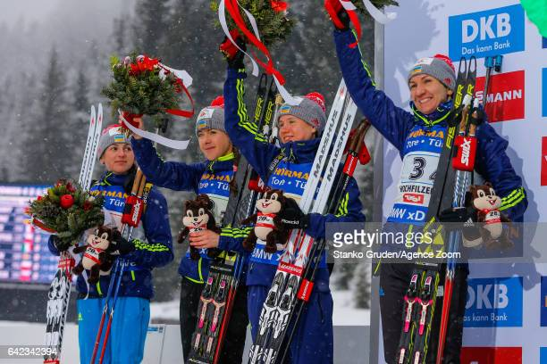 Iryna Varvynets wins the silver medal Yuliia Dzhima of Ukraine wins the silver medal Anastasiya Merkushyna wins the silver medal Olena Pidhrushna of...