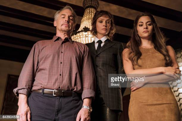IMPOSTERS 'Is a Shark Good or Bad' Episode 105 Pictured Brian Benben as Max Uma Thurman as Lenny Cohen Inbar Lavi as Maddie