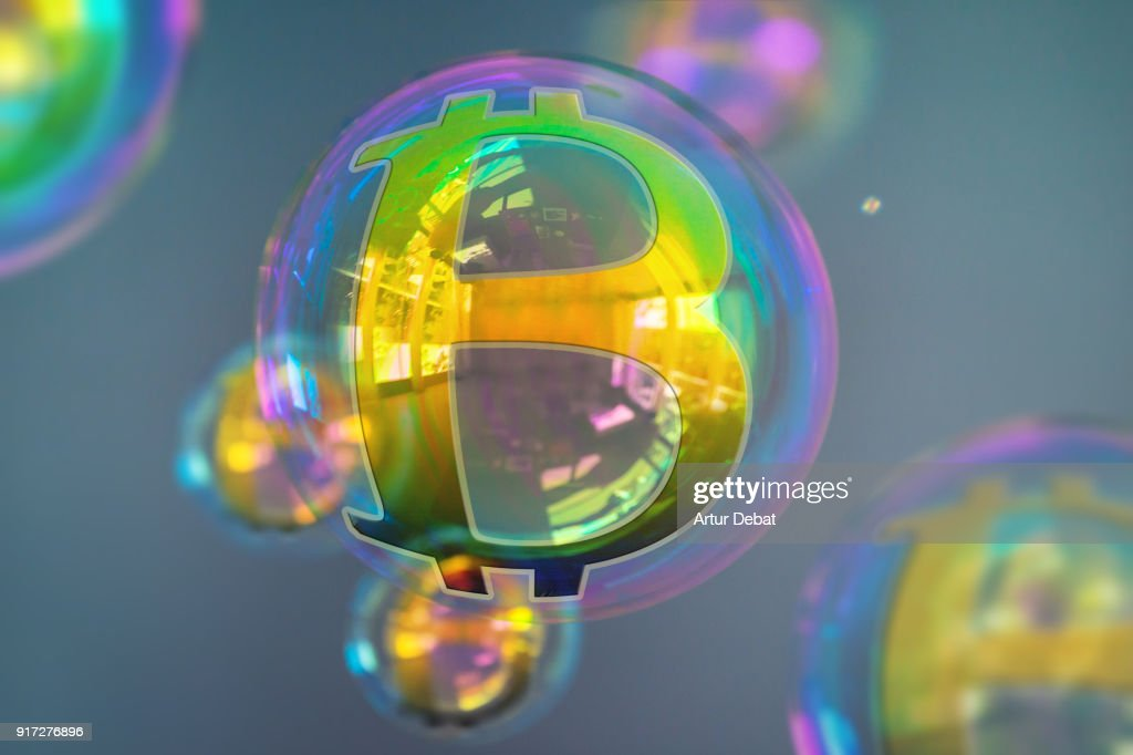 Is Bitcoin a bubble? Ponzi Scheme? The future of digital currency? : Stock Photo