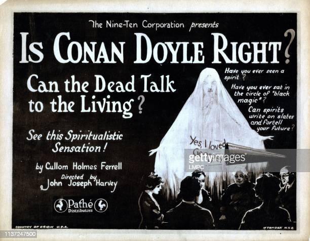 Is Conan Doyle Right lobbycard titlecard 1923