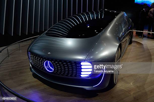 F015 is displayed at the MercedesBenz booth during the media preview ahed of The 44th Tokyo Motor Show 2015 at Tokyo Big Sight on October 28 2015 in...