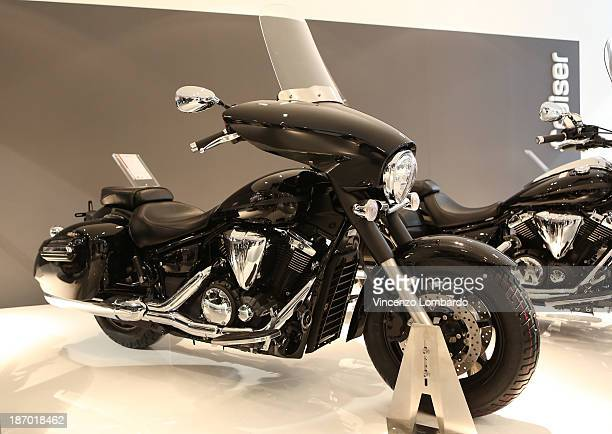 is displayed during the 71st International Motorcycle Exhibition EICMA 2013 on November 5 2013 in Milan Italy