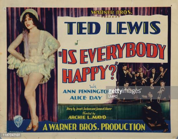 Is Everybody Happy lobbycard Ann Pennington 1929