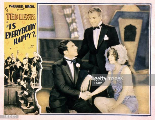 Is Everybody Happy lobbycard from left Ted Lewis Lawrence Grant Ann Pennington 1929