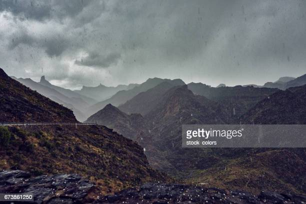 is raining and is cold - tejeda canary islands stock pictures, royalty-free photos & images