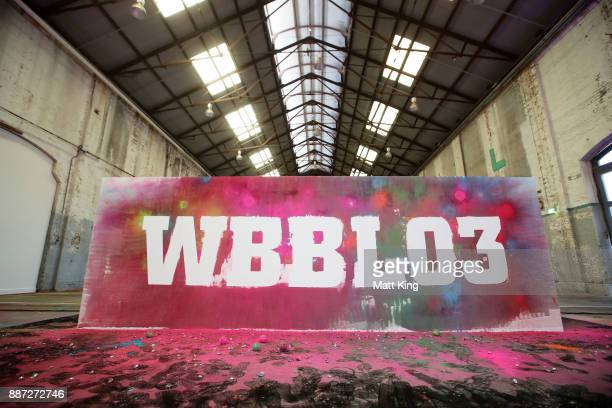 WBBL03 is revealed on an artistic activation during the 201718 WBBL Women's Big Bash League season launch at Carriageworks on December 7 2017 in...