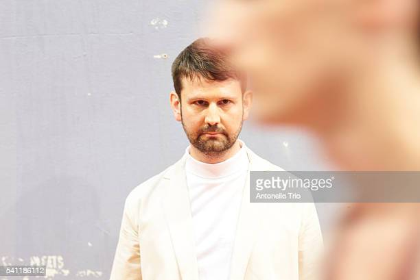 is seen ahead of the Lucio Vanotti fashion show during Pitti 90 on June 16 2016 in Florence Italy