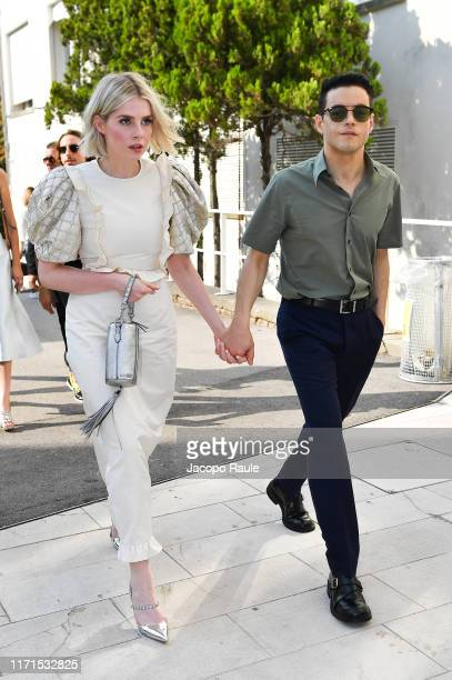 Is seen arriving at the 76th Venice Film Festival on September 01, 2019 in Venice, Italy.