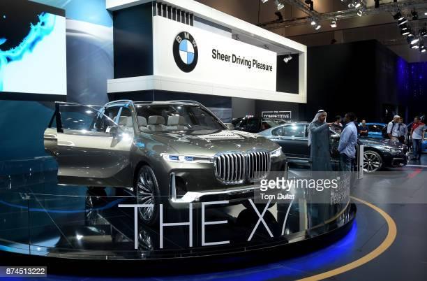 X7 is seen during Dubai Motor Show at Dubai World Trade Centre on November 15 2017 in Dubai United Arab Emirates