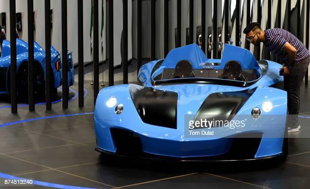 N360 is seen during Dubai Motor Show at Dubai World Trade Centre on November 15 2017 in Dubai United Arab Emirates