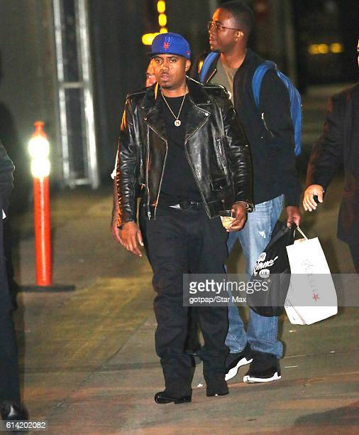 NAS is seen on October 12 2016 at Jimmy Kimmel Live in Los Angeles California