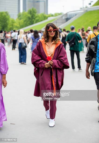 Is seen outside Kenzo during Paris Fashion Week - Menswear Spring/Summer 2020 on June 23, 2019 in Paris, France.