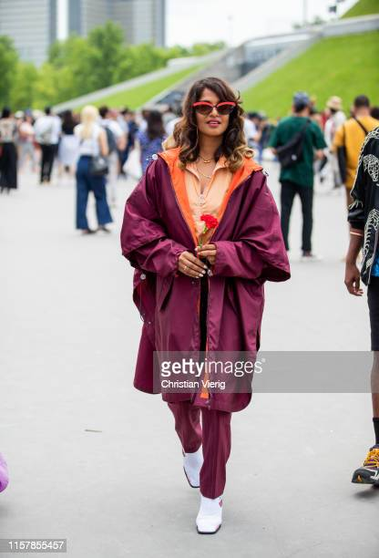 A is seen outside Kenzo during Paris Fashion Week Menswear Spring/Summer 2020 on June 23 2019 in Paris France