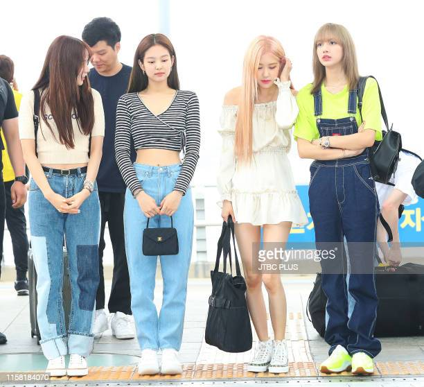 Is seen upon departure at Incheon International Airport on June 06, 2019 in Incheon, South Korea.