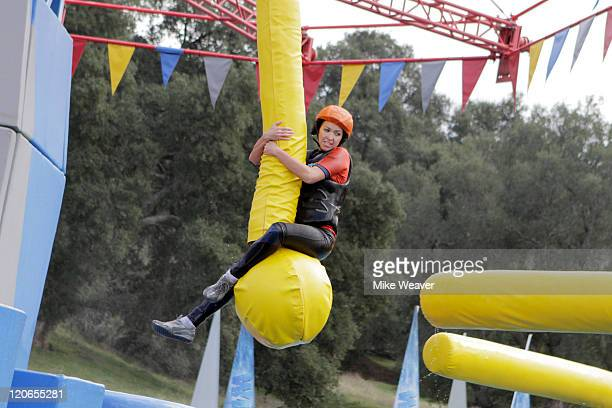 WIPEOUT 'Is That a Potato in Your Sack or Are You Just Happy to Wipeout' 'This week features a new obstacle called 'Kindergarten Chaos' where...