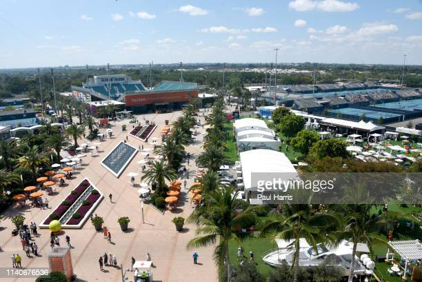 Is the first year that the Miami Open Tennis tournament was held at the Hard Rock Stadium, which is also the home of the Miami Dolphins of the...